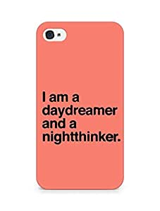 AMEZ daydreamer and night thinker Back Cover For Apple iPhone 4