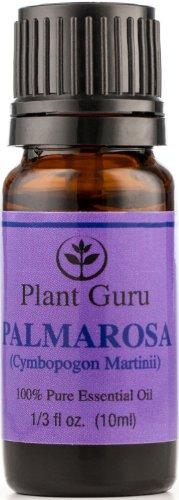 Palmarosa Essential Oil. 10 Ml. 100% Pure, Undiluted, Therapeutic Grade.
