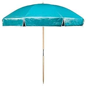 Beach Umbrella In Teal Patio Umbrellas Patio Lawn Garden