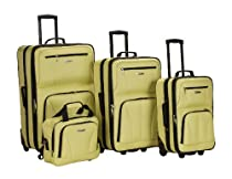 Hot Sale Rockland Luggage 4 Piece Set, Lime, One Size