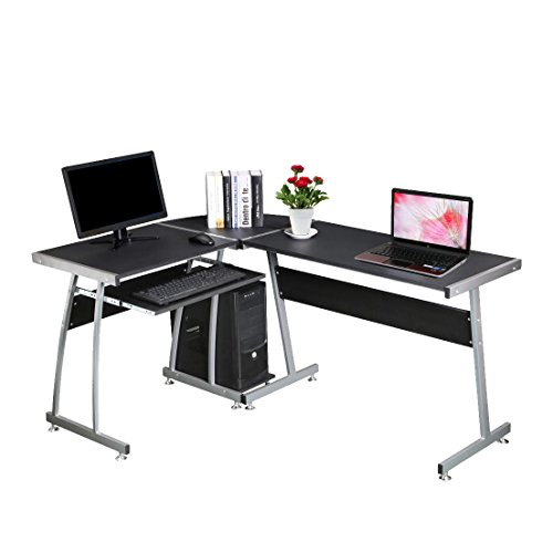 bigzzia-l-shape-corner-computer-desk-table-home-office-pc-workstation-table-with-sliding-keyboard-sh