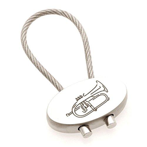 Schlsselanhnger-Flgelhorn-aus-Metall-Schnes-Geschenk-fr-Musiker