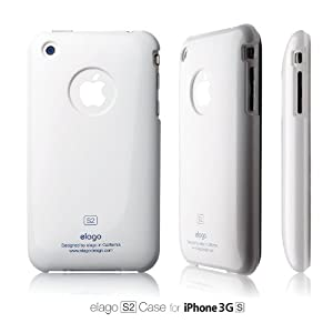 elago S2 Case for iPhone 3G/3GS (High Glossy) - White + Universal Dock Adapter included