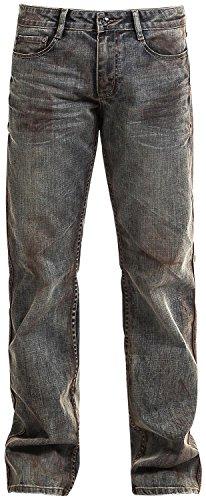 Rock Rebel by EMP Johnny Sprayed (Boot-Cut) Jeans blu W31L34