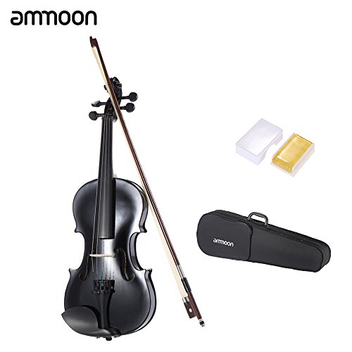 ammooon-1-4-1-2-3-4-4-4-student-violin-metallic-black-equipped-with-steel-string-w-arbor-bow-case-fo