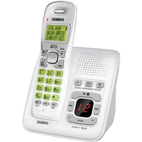 Uniden D1483 DECT 6.0 1-Handset 1-Line Digital Cordless Phone, White (Uniden Answering Machine compare prices)