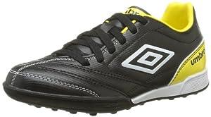 Umbro Turbine Tf, Chaussures de sport garçon - Noir (D6J Noir/Blanc/Jaune), 36 EU