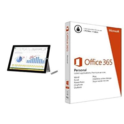 Microsoft Surface Pro 3 (256 GB, Intel Core i5) with Office 365 Personal 1yr Subscription Key Card