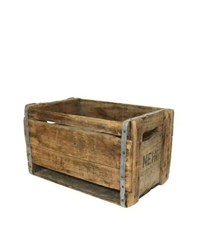 Uptown Down Vintage Wooden Crate, Natural