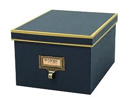 cargo Atheneum Photo/Supply Box, Blue, Set of 2