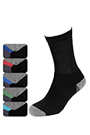 5 Pairs of Cotton Rich Sole Design Sports Socks with Stay New™