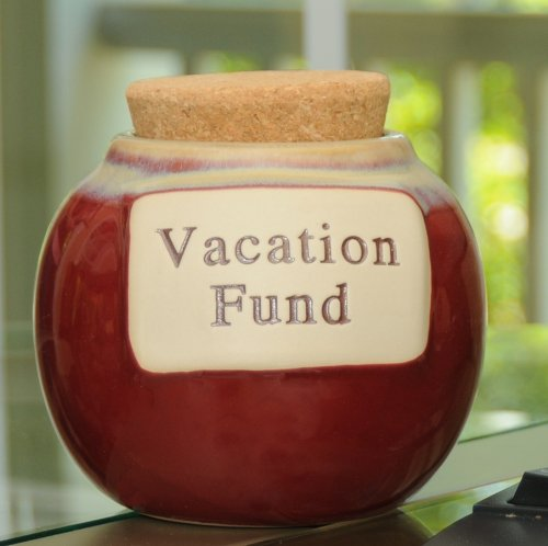 Tumbleweed Pottery 'Vacation Fund' Money Jar