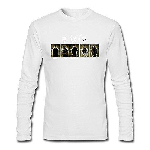 Arnoldo Blacksjd Men's Korn Metal Band Design Long Sleeve Cotton T Shirt X-Large