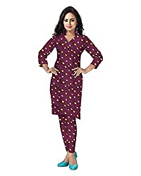 Banjara Women'S Cotton Bandhani Unstitched Dress Material (Rf17 _Maroon_Free Size)
