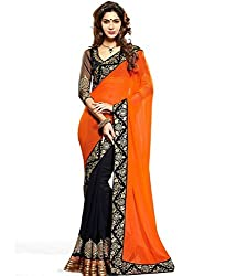 Puffin Fashion Bollywood Designer Embroidary Saree With Blouse Piece