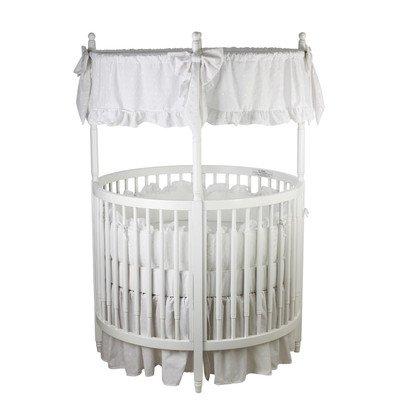 Sophia Posh Circular Crib Finish: White