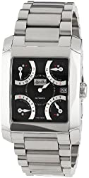 Jean D'eve Men's 927051NA.AA Quarta Automatic Black Dial Stainless-Steel Bracelet Watch