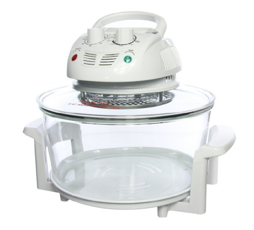 Designer Habitat 12 Litre Premium 1400w White Halogen Oven Cooker complete with FREE Low Rack + High Rack + Tongs