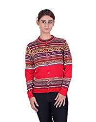 eWools Women's Red Wool Sweater (740-eWools-Medium)
