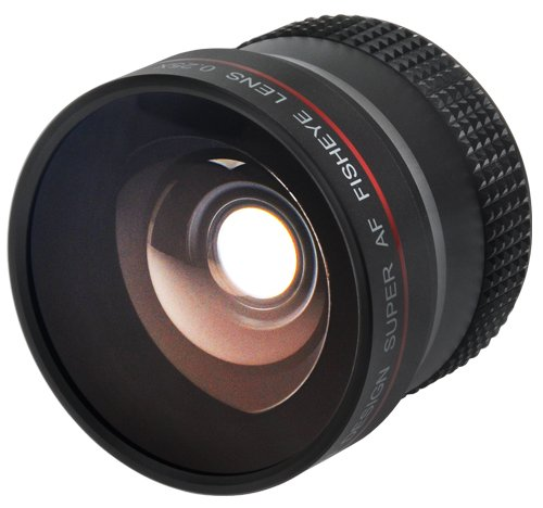 Precision Design 0.25x Super AF Fisheye Lens for Canon Rebel T2i, T3, T3i, T4i, EOS 60D, 7D, 5D, 1D X, 1Ds Mark II III IV Digital SLR Cameras