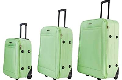 "Constellation 3 Piece Lime Green Luggage Set 28"" 24"" 18"""