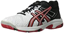 ASICS Gel-Resolution 5 GS Tennis Shoe (Little Kid/Big Kid),White/Fiery Red/Black,5.5 M US Big Kid