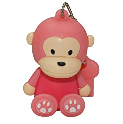 Ricco ® Baby Monkey USB High Speed Flash Memory Stick Pen Drive Disk (16GB SIT PINK)