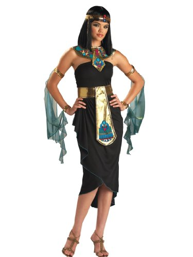 Egyptian Goddess Cleopatra Costume Dress Sexy Cut Womens Theatrical Costume