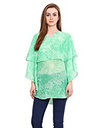 Blink Green Coloured Poly Lycra Kaftan Large