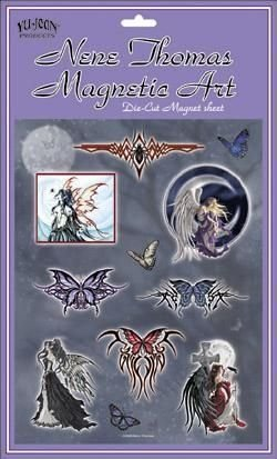Dark Fairy and Tribal Butterfly by Nene Thomas - Die Cut Magnet Set