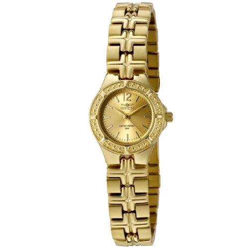 Invicta Mujer 0131Wildflower Collection chapados en oro de 18K acero inoxidable reloj