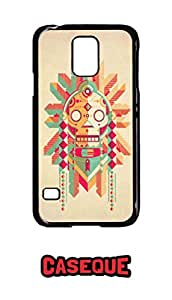 Caseque Skull Art Back Shell Case Cover for Samsung Galaxy S5