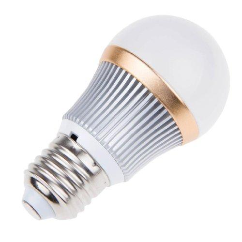 Lemonbest Bright Dimmable 3W Led Globe Bulb E27 Light Lamp 3 Leds Cool White Lighting Bulb