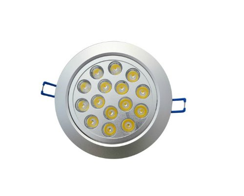 Domire Silvery Led Day White 15W Recess Downlight Ceiling Lamp Replace 130W Incandescent Bulb Energy Efficient Lights