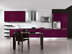 Vinyl covering wrap kitchen cupboards cabinets drawers for Adhesive covering for kitchen cabinets