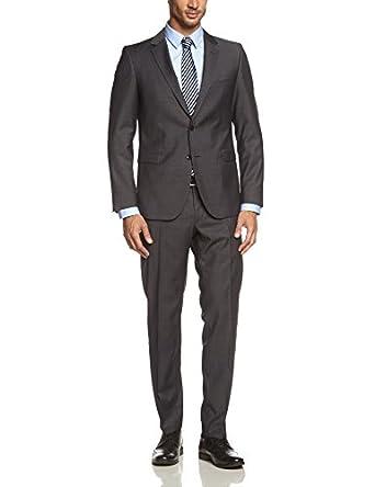 Strellson Premium Herren Anzüge (Zweiteiler) Slim Fit, gepunktet 11002859 / Rick-James, Gr. 46, Schwarz (110)