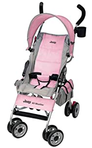 Jeep All-Weather Reclining Umbrella Stroller, Pink (Discontinued by Manufacturer)