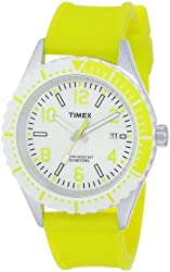 Timex Unisex T2P0089J Originals Modern Sport Lemon-Lime Silicone Strap Watch