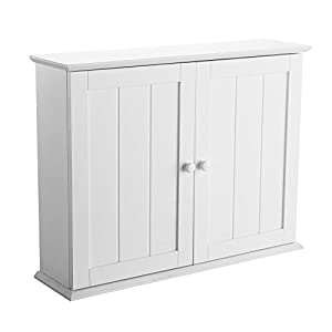 denver white wood wall mounted bathroom cabinet with