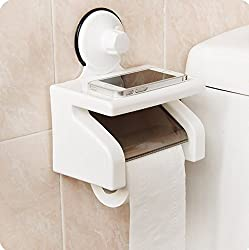 DFS's original WATERPROOF BATHROOM TOILET TISSUE PAPER ROLL HOLDER With Power Suction Cup