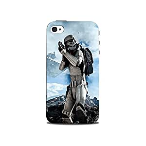 Mikzy Star Wars Soldier Printed Designer Back Cover Case for Iphone 4/4S (MultiColour)