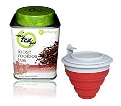 The TeaSpot Red Rocks Rooibos Loose Leaf Tea & Tuffy Steeper Tea Infuser Gift Set