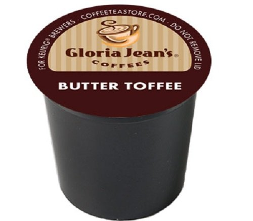 Gloria Jean's Coffee Butter Toffee, K-Cup Portion Pack for Keurig Brewers 96-Count