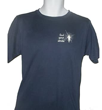 OBX Outfitters Find Your Stride Men's Athletic Shirt, Navy, X-Large