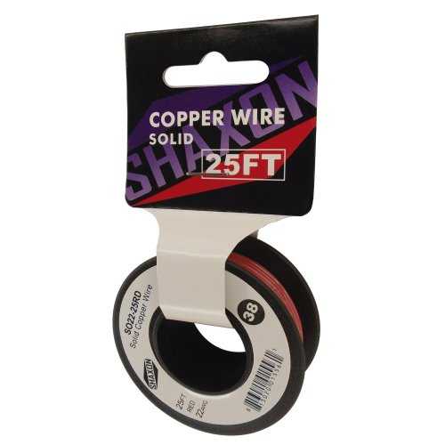 Shaxon So22-25Rd Solid Copper Wire On Spool, 25-Feet, Red