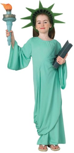 Statue Of Liberty Kids Costume Sm Kids Girls Costume