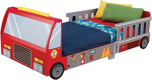 Best Price KidKraft FireTruck Toddler Cot