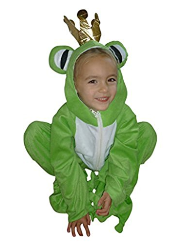 [Fantasy World Boys/Girls Frog Prince Halloween Costume, Size 7, Sy12] (Prince Frog Costumes)