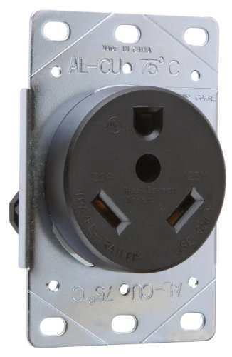 Pass & Seymour 3830Cc6 Travel Trailer Outlet 30-Amp 125-Volt, Easy Installation