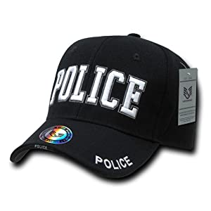 Rapiddominance Police DeLuxe Law Enforcement Cap, Black